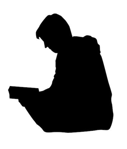 Sil czytajaca ksiazke