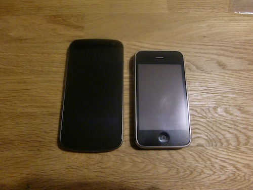 Galaxy Nexus iPhoneと比較