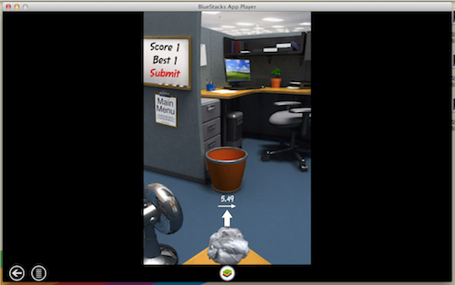 Bluestacks Paper toss3