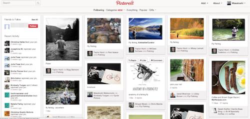 Pinterest webブラウザ