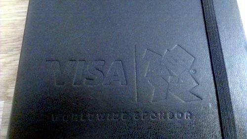 Moleskine limited Visa Olympic ロゴ