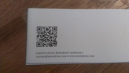 Moleskine limited Visa Olympic 帯