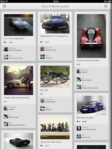 Pinterest iPadアプリ Cars  Motorcycles