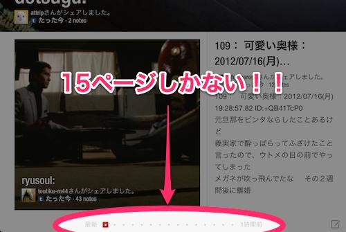 Flipboard iPad ページ数