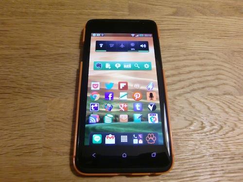 HTC J 購入宣言キャンペーン ケース装着1