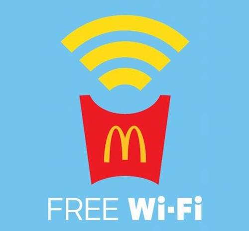 マクドナルド FREE Wi Fi ロゴマーク